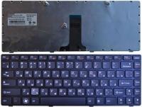 Клавиатура для ноутбука Lenovo Ideapad B470 V470 черная с серой рамкой