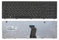 Клавиатура для ноутбука Lenovo IdeaPad G580 G585 G780 Z580 Z580A Z585 Z780 V580 черная с черной рамк
