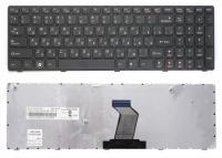 Клавиатура для ноутбука Lenovo IdeaPad B570 V570 Z570 Z575 черная с черной рамкой