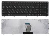 Клавиатура для ноутбука Lenovo IdeaPad Z560 Z565 G570 G770 черная с черной рамкой