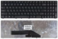 Клавиатура для ноутбука Asus K50 K60 K70 черная с рамкой